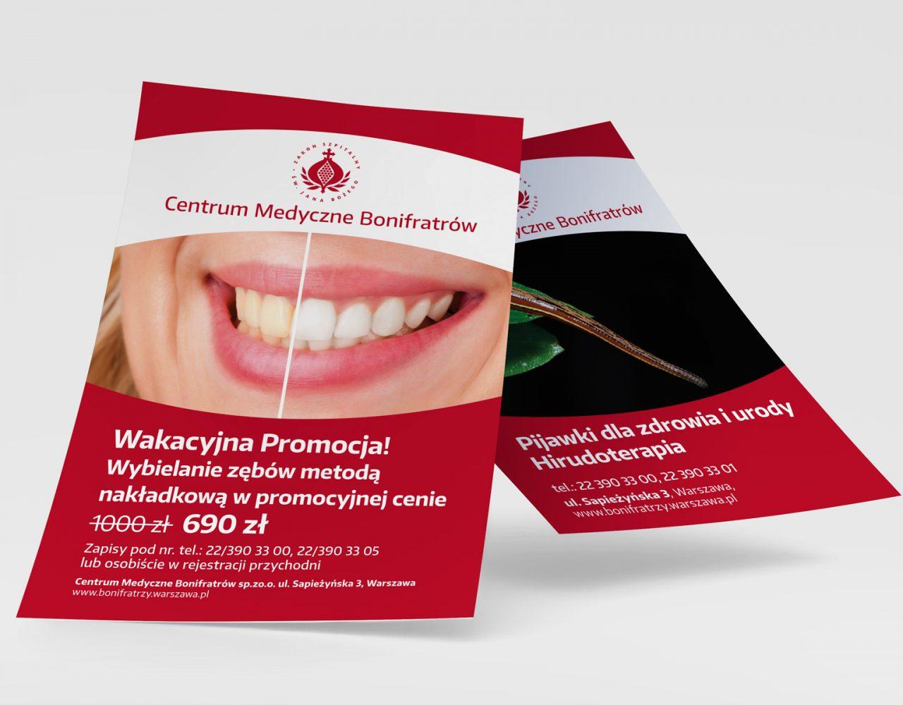 projekty plakatów dla Centrum Medycznego Bonifratrów