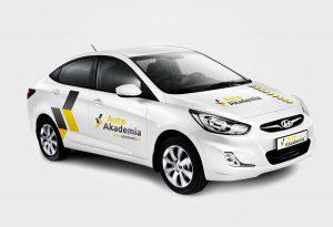 Projekt oznakowania samochodu dla firmy Auto Akademia