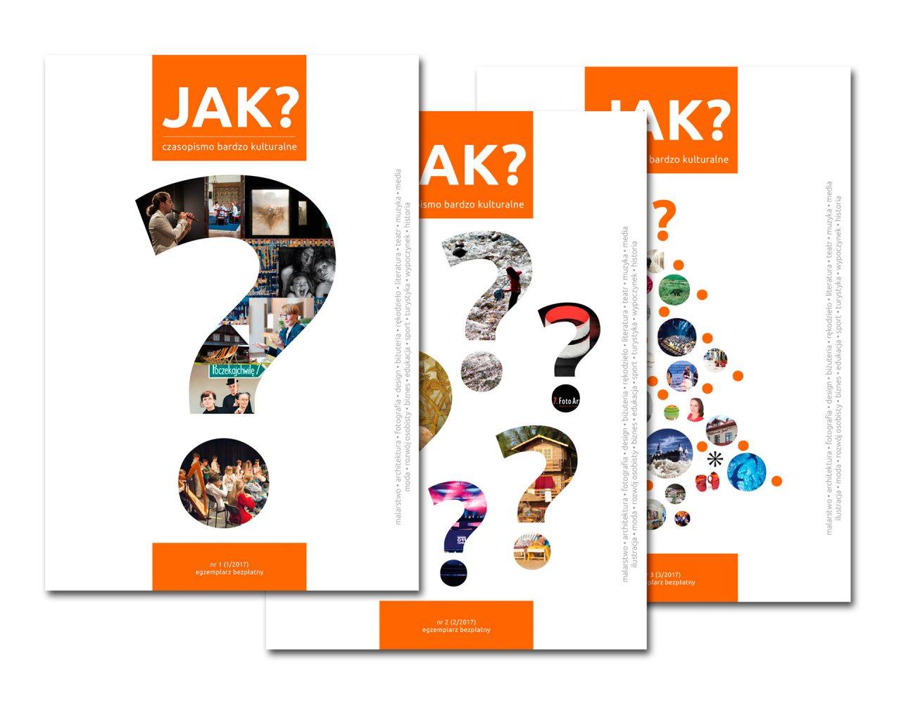 JAK? czasopismo bardzo kulturalne - okładki
