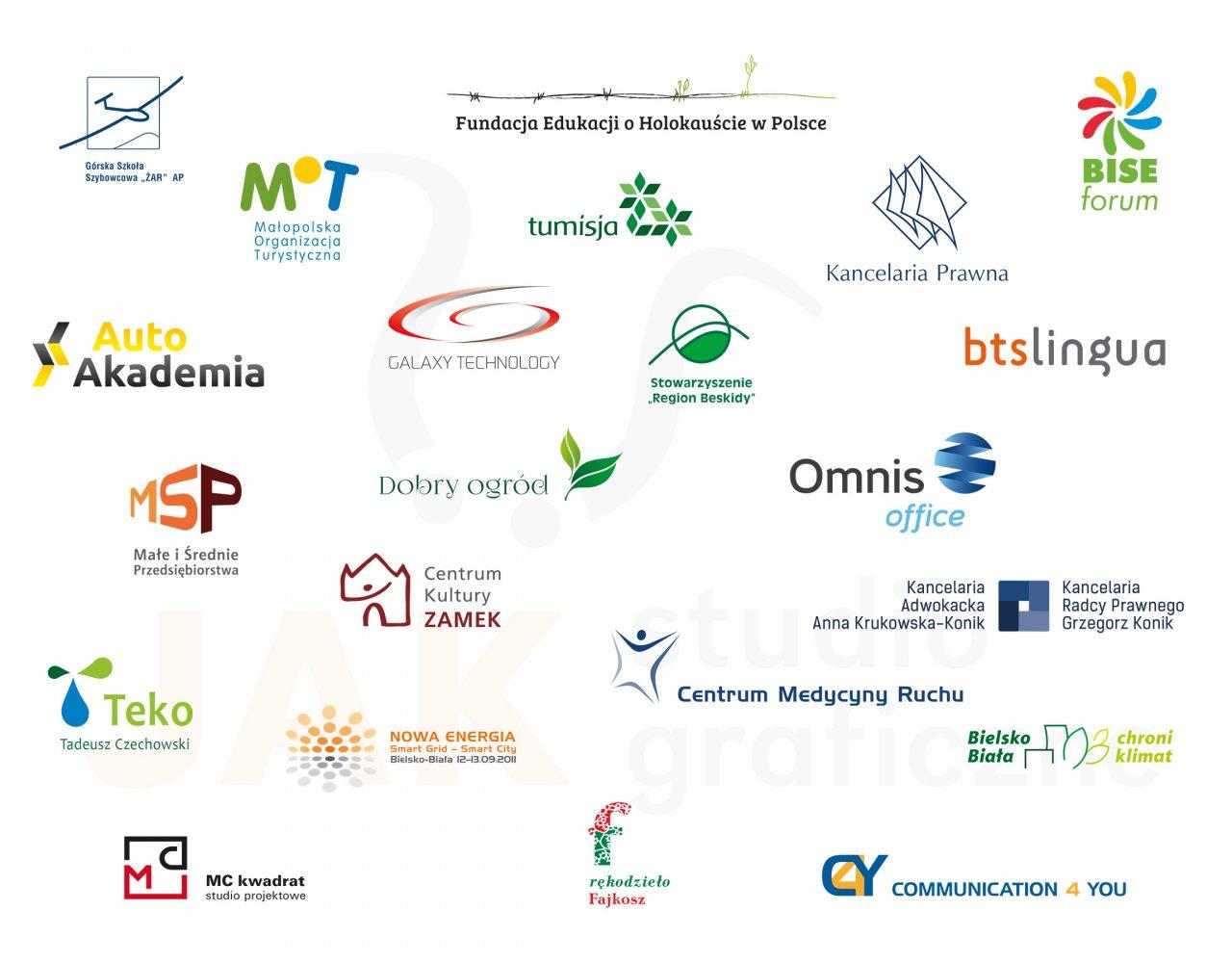 projekty znaków graficznych logo