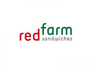 projekt logo dla sieci fast foodów RED FARM SANDWICHES w Dubaju