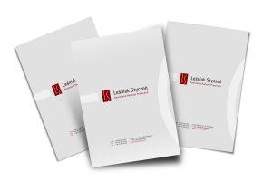 Projekt teczek na dokumenty dla Kancelarii Radców Prawnych Leśniak Styczeń