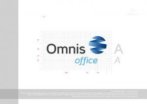 logo Omnis Office - księga znaku - budowa logo, proporcje