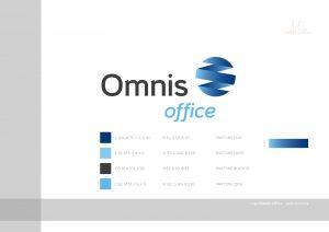 logo Omnis Office - księga znaku, opis kolorów