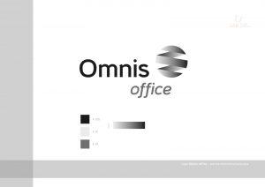 logo Omnis Office - księga znaku - wersja monochromtyczna