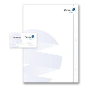 projekt papieru firmowego i wizytówki