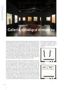 strona tytułowa artykułu o Galerii Zdzisława Beksińskiego w Krakowie