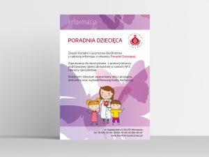 projekt plakatu dla poradni dziecięcej