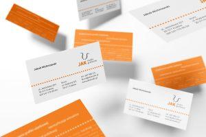 projekt wizytówki  JAK - studio graficzne