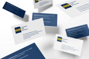 projekty wizytówek Krakowskiego Klubu Biznesowego