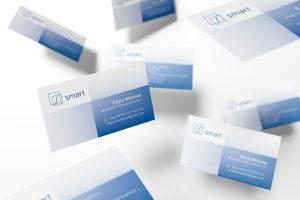 projekt wizytówki dla doradcy finansowego - firma SMART
