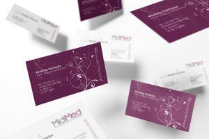 projekt wizytówki dla gabinetu medycyny estetycznej - gabinetu stomatologicznego