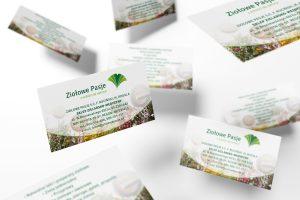 wizytówka sklepu zielarskiego Ziołowe Pasje