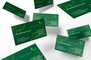 projekt wizytówek dla firmy Dobry Ogród